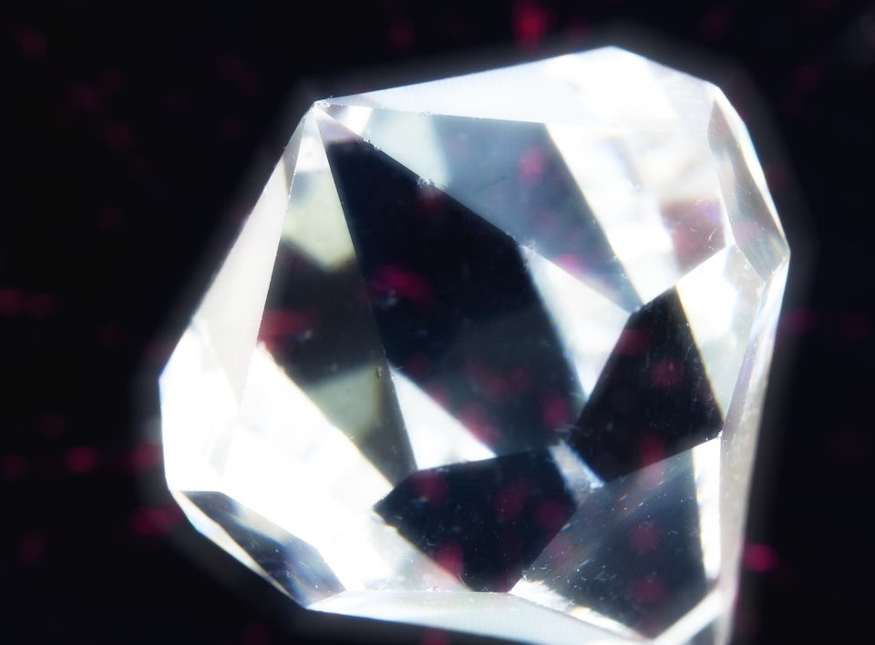 close up of a gemstone
