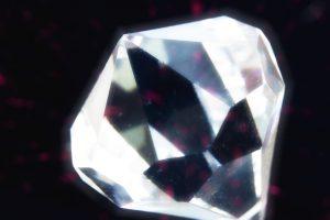 close up of a gemstone